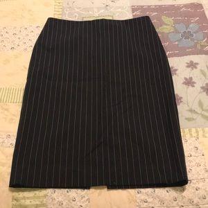 Body by Victoria pencil skirt-navy pin stripe